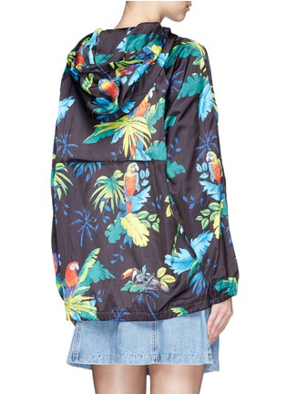 Back View - Click To Enlarge - Marc Jacobs - Parrot print packable drawstring hoodie