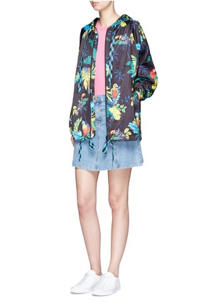 Figure View - Click To Enlarge - Marc Jacobs - Parrot print packable drawstring hoodie