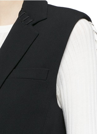 Detail View - Click To Enlarge - Alexander Wang  - Lace-up back tailored long vest