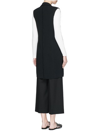 Back View - Click To Enlarge - Alexander Wang  - Lace-up back tailored long vest