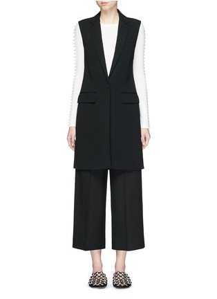 Main View - Click To Enlarge - Alexander Wang  - Lace-up back tailored long vest