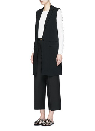 Figure View - Click To Enlarge - Alexander Wang  - Lace-up back tailored long vest