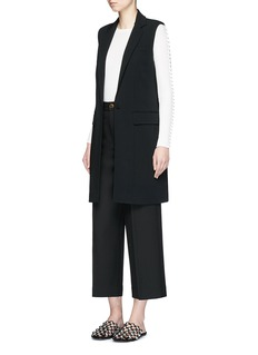 Alexander Wang  Lace-up back tailored long vest