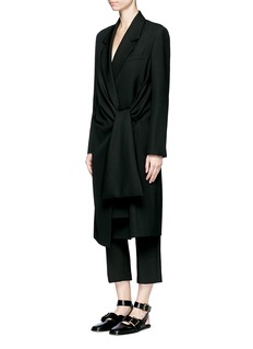 Acne Studios'Lorin Struct' tie waist long coat