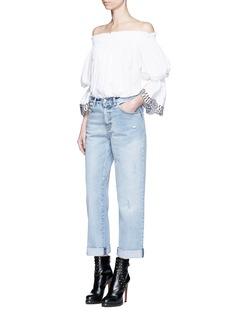 Alexander McQueenPocket fade distressed boyfriend jeans