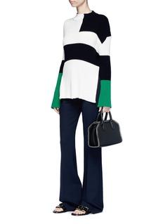 Stella McCartneyColourblock chunky rib knit sweater