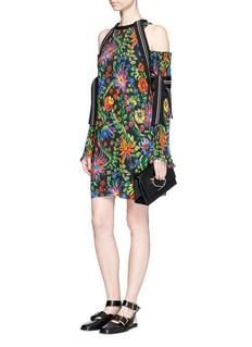 3.1 Phillip LimFloral print plissé pleat cold shoulder dress