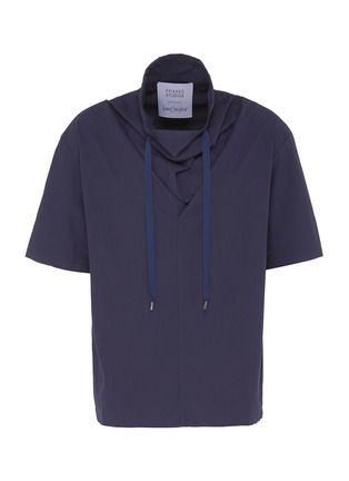 Main View - Click To Enlarge - FFIXXED STUDIOS - Drawstring collar unisex twill T-shirt