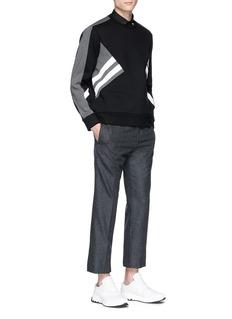 NEIL BARRETT 铆钉点缀纯棉府绸衬衫