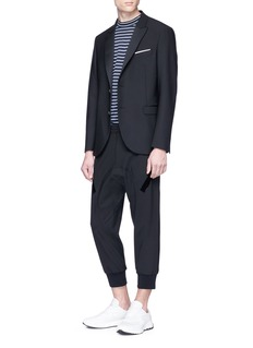 Neil Barrett Tape trim cropped jogging pants