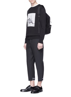 Neil Barrett Stripe cuff cropped pants
