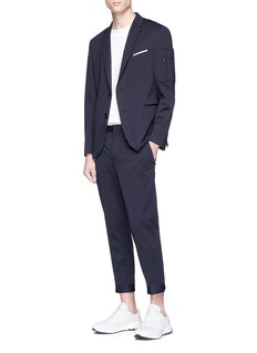 Neil Barrett Sleeve zip pocket blazer