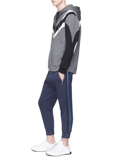 NEIL BARRETT 品牌名称及音标点缀纯棉T恤