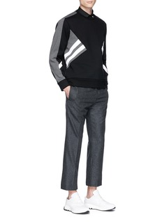 Neil Barrett 'Modernist' panel neoprene sweatshirt