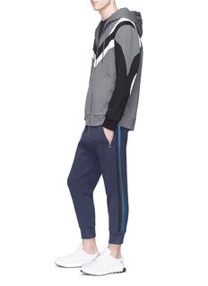 Neil Barrett 'New Modernist' panel neoprene zip hoodie