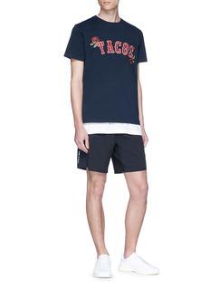 THE UPSIDE TACO Newman及玫瑰花刺绣纯棉T恤