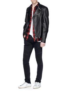 J Brand 'Bearden Moto' diamond quilted knee skinny jeans