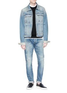 Denham 'Razor' ripped selvedge jeans