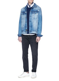 Denham 'Amsterdam' distressed denim jacket