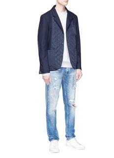 Denham 'Magnesium' quilted panel soft blazer