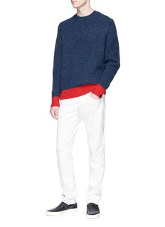 rag & bone 'Charles' colourblock Merino wool blend sweater