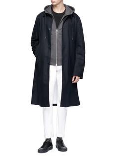Theory Fleece-lined zip hoodie