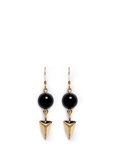 JOOMI LIMSpike bead drop earrings