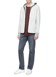 James Perse Contrast piping zip hoodie