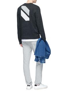 James Perse Geometric intarsia cashmere sweater