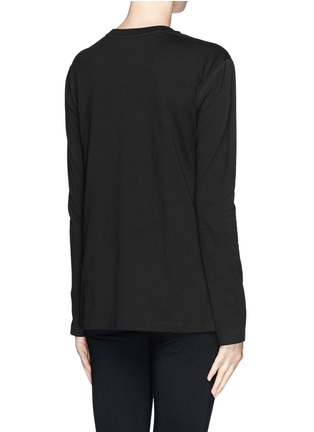 Back View - Click To Enlarge - T By Alexander Wang - Chest pocket split side T-shirt