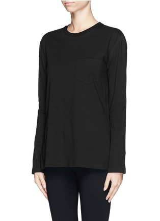 Front View - Click To Enlarge - T By Alexander Wang - Chest pocket split side T-shirt