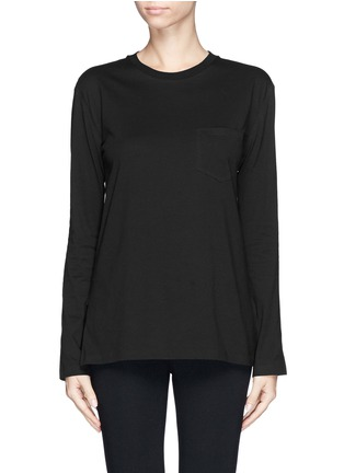 Main View - Click To Enlarge - T By Alexander Wang - Chest pocket split side T-shirt