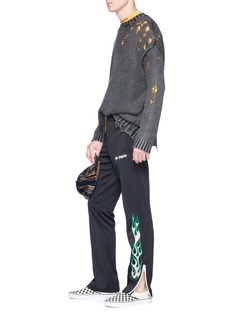 Palm Angels Flame print track pants