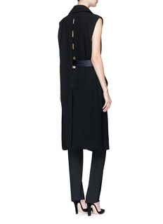 BYT Colourblock belted cutout back suiting coat