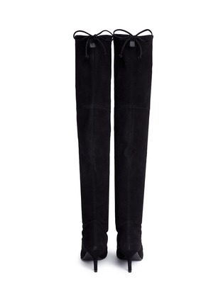 Back View - Click To Enlarge - Stuart Weitzman - 'Tie Model' stretch suede knee high boots
