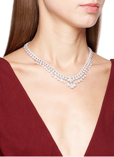 LC Collection Jewellery Diamond 18k white gold necklace