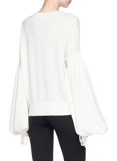 Zimmermann 'Maples' balloon sleeve wool-cashmere sweater