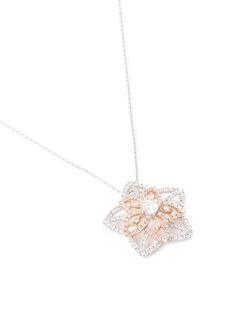 LC Collection Diamond 18k white and rose gold star pendant necklace