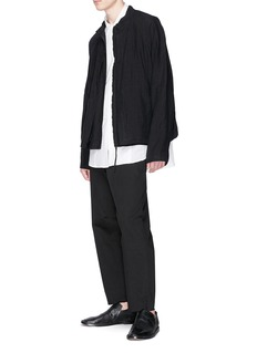 Uma Wang  'Theo' crinkle stripe shirt