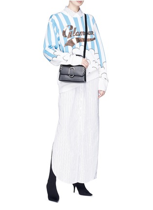 Figure View - Click To Enlarge - YCH - 'Glamour' embroidered cloud intarsia sweater