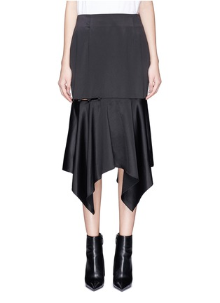 Main View - Click To Enlarge - YCH - Cutout side satin skirt