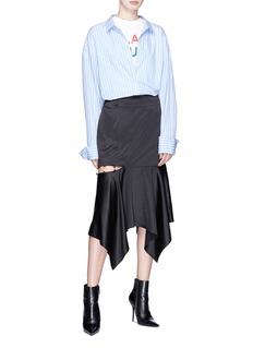 YCH Cutout side satin skirt