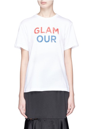Main View - Click To Enlarge - YCH - 'Glamour' print T-shirt