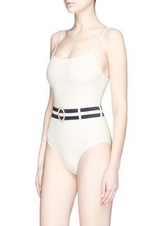 Solid & Striped 'The Nina' belted one-piece swimsuit