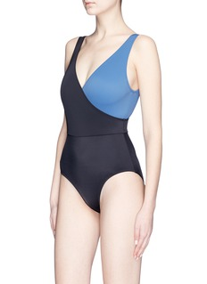 Solid & Striped 'Ballerina' colourblock one-piece swimsuit