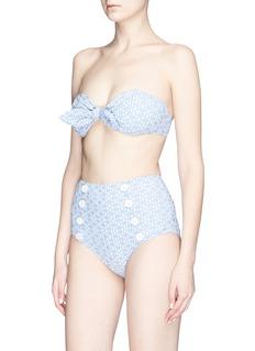 Lisa Marie Fernandez 'Poppy' seersucker bikini set