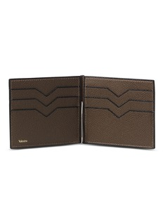 Valextra 'Simple Grip Spring' leather wallet – Brown