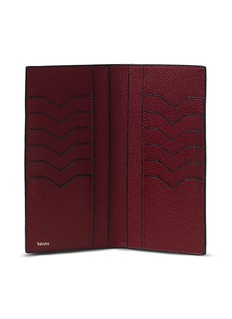 Valextra Leather vertical wallet – Red