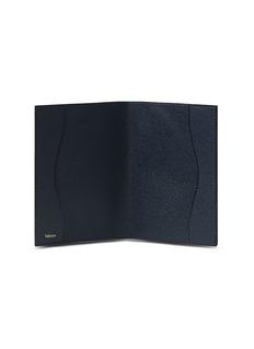 Valextra Leather passport holder –Dark Blue