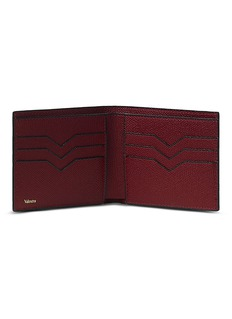 Valextra Leather bifold wallet – Red